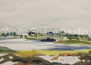 Chapaquoit Bridge West Falmouth Cape Cod Arlene Black Mollo Watercolor Artwork