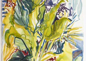 Hydrophytes Wellesley College Arlene Black Mollo Watercolor Artwork
