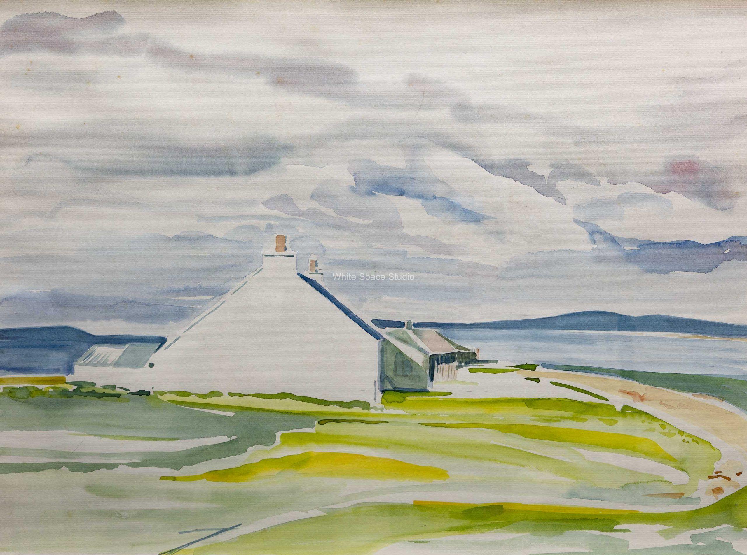Iona Vista II Hebrides Scotland Arlene Black Mollo Watercolor Artwork