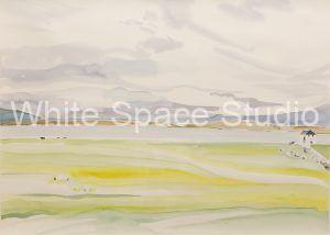 Iona Vista Hebrides Scotland Arlene Black Mollo Watercolor Artwork