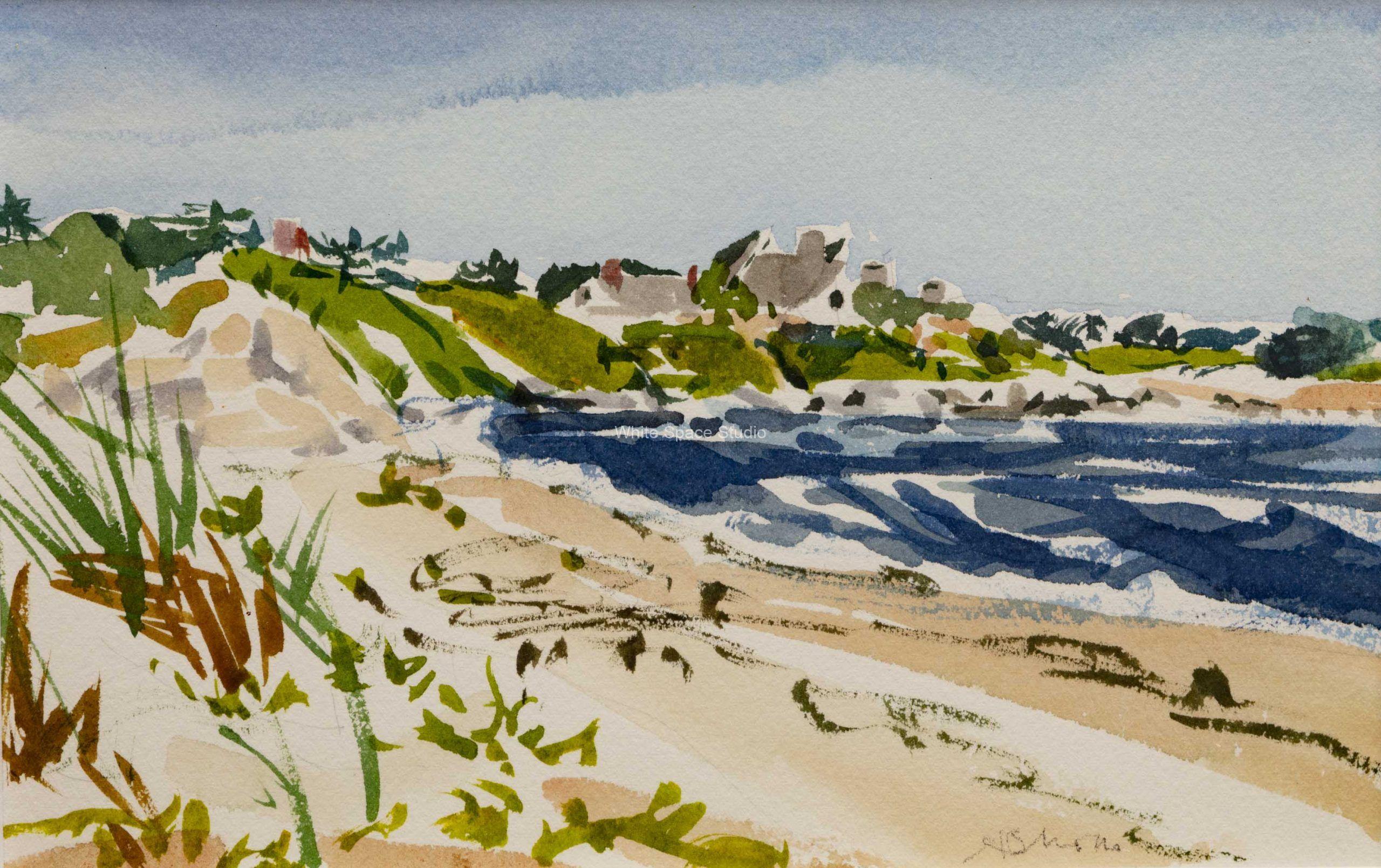 Racing Beach Falmouth Cape Cod Arlene Black Mollo Watercolor Artwork