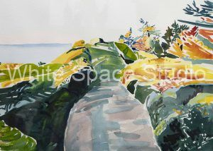 Road To Heaven Painting Arlene Black Mollo Watercolor Artwork