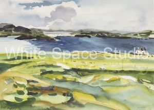 Scottish Shadows Irish Sea Arlene Black Mollo Watercolor Artwork