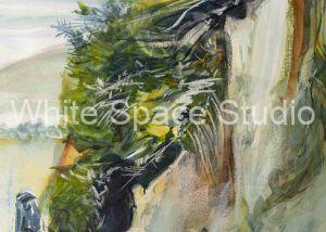 Sonoma State Beach California Three Sails Key West Arlene Black Mollo Watercolor Artwork