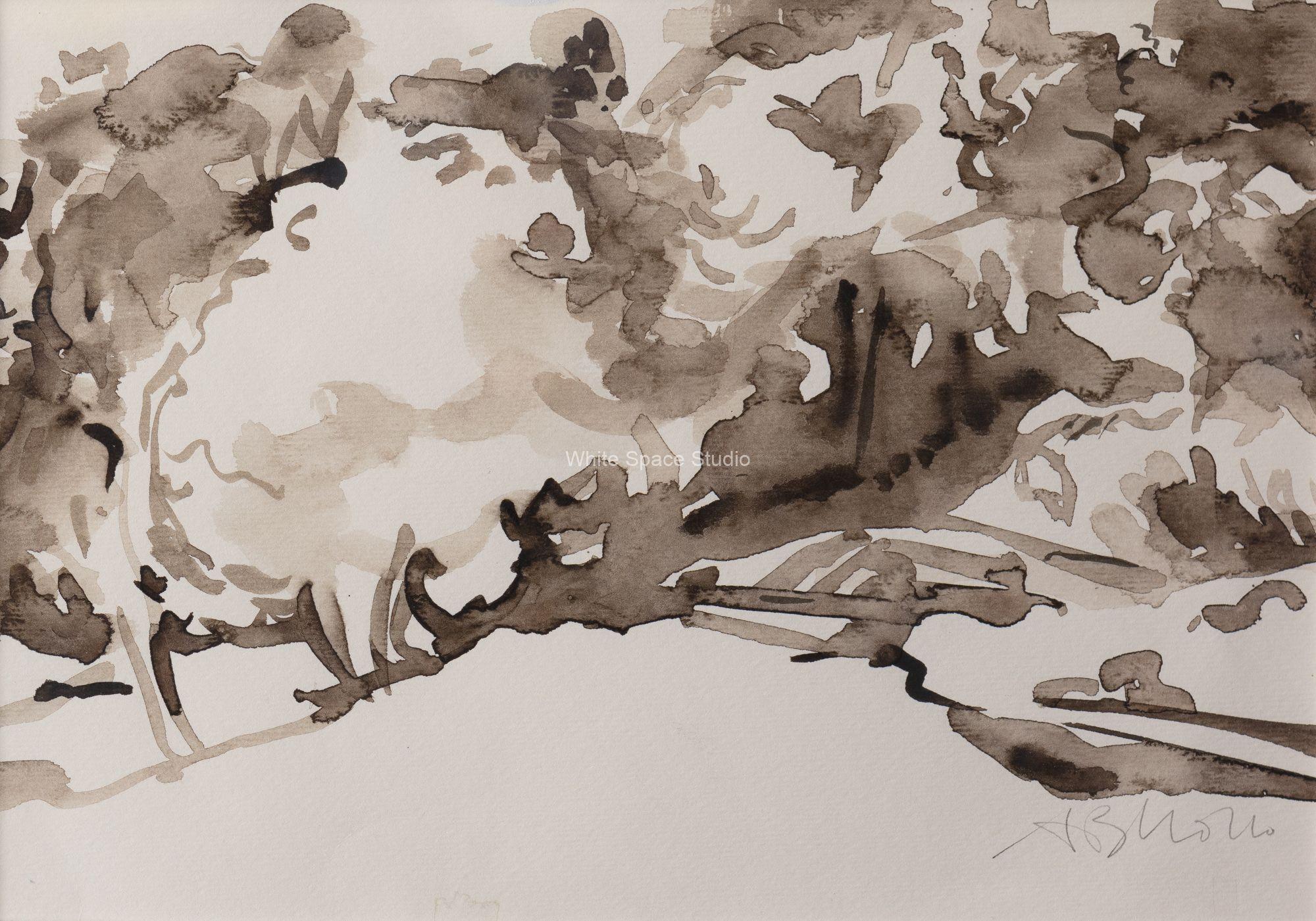 White Hill Mount Auburn Cambridge Arlene Black Mollo Watercolor Artwork