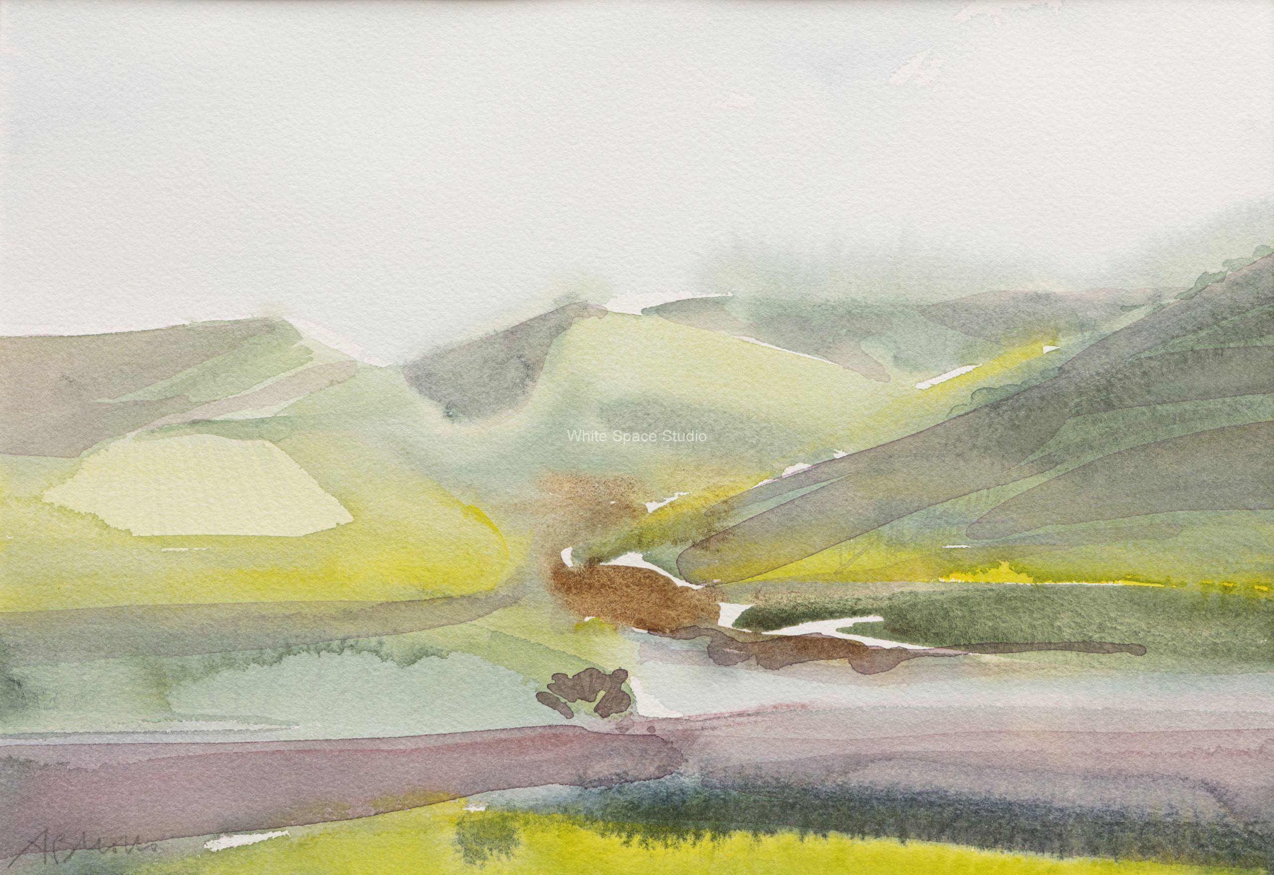 Winter Sonoma California Arlene Black Mollo Watercolor Artwork